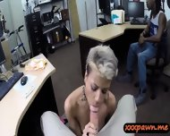 Dude Sells His Gf And Watch Her Getting Fuck In The Pawnshop - scene 7