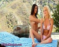 Outdoor Lesbian Massage - scene 9