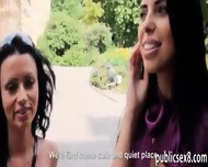 Two Big Titted Amateur Eurobabes Threesome For Money - scene 3