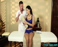 Latina Babe Gets Massage - scene 2