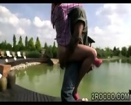 Horny Babe Gets Her Holes Explored Outdoor By Filthy Brotha - scene 2