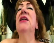 Fat Redhead Granny Masturbates And Gets A Young Dick Right Up Her Mouth - scene 7