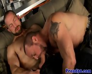Gaysex Mature Bears Shoot Their Loads - scene 4
