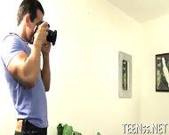 Two Big Guys Drill A Cute Teen - scene 7