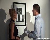 Busty Blonde Fucked In An Art Gallery - scene 3