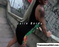 Ts Julie Berdu Strokes Her Sexy Shecock - scene 1