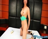 Sexy Shemale Playing With Her Hard Shaft And Oozes Out Cum - scene 9