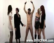 Bound Man Gets Handjob From Naughty Cfnm Women - scene 7