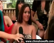 Outdoor Blowjob For Dude With Cfnm Group Of Women - scene 11