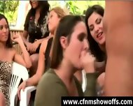 Outdoor Blowjob For Dude With Cfnm Group Of Women - scene 12