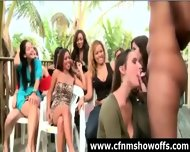 Outdoor Blowjob For Dude With Cfnm Group Of Women - scene 5