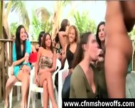 Outdoor Blowjob For Dude With Cfnm Group Of Women - scene 7