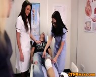 Nurses Adele And Emma Tugging Cock Hard - scene 1