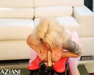 Brooke Haven Enjoys The Rockers Big Dildo Going In And Out Of Her Sweet Little Pussy