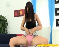 Pissdrinking Brunette Teen And Her Little Toy - scene 4