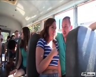 Maddys Pussy Gets Probed After She Gives A Blowjob Inside The School Bus - scene 1