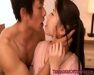 Facialized Asian Teen Babe With A Petite Body - scene 1