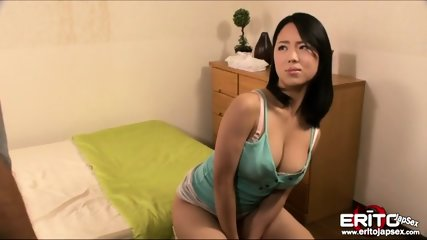 Beautiful Japanese Gets Splashed With Cum On Her Face After Geting Boned