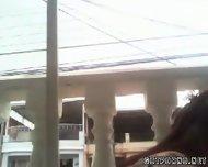 Colombiana Masturbacion Anal En Su Balcon - scene 5