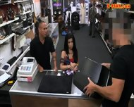 Pervert Pawnkeeper Fucking A Hot Cuban Chick In The Pawnshop - scene 1