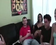 Group Of Young People Banging On College - scene 3