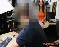 Busty Redhead Teen Rides On Cock At The Pawnshop For Money - scene 3