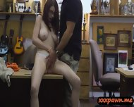 Busty Redhead Teen Rides On Cock At The Pawnshop For Money - scene 6