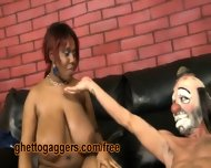 White Clown Face Fucks A Thick Black Ho - scene 11
