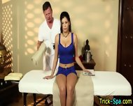 Latina Babe Oil Rubdown - scene 2
