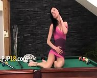 Fluent Cunt Masturbation On The Billiards - scene 1
