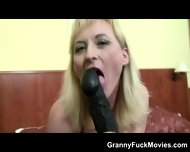 Granny Porn Slut With Black Dldo - scene 9