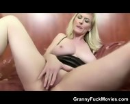 Granny Porn Slut With Black Dldo - scene 6
