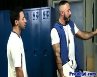 Athletic Gay Coach Jizzes On Young Jock - scene 3