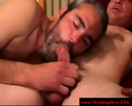 Hairy Bear Sucks In Want Of That Cumshot - scene 2