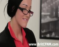 British Cfnm Girls Give A Gay A Handjob In The Office - scene 8