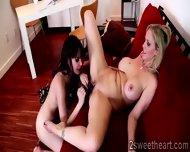 Filthy Blondie Gets Hard Licked By Her Ravishing Brunette Neighbour - scene 10
