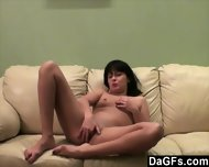 Shy Young Brunette Makes Her First Show On Webcam - scene 6