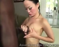 Pretty Asian Gets Filthy When Blowing A Huge Black Piece - scene 10