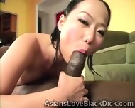 Pretty Asian Gets Filthy When Blowing A Huge Black Piece - scene 4
