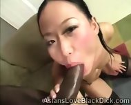 Pretty Asian Gets Filthy When Blowing A Huge Black Piece - scene 5