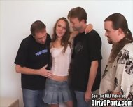 Hot Party Slut Fucks Some Guys - scene 1