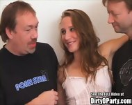 Hot Party Slut Fucks Some Guys - scene 3