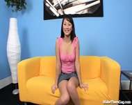 Petite Asian Girl Deepthroats And Gags - scene 1
