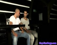 Horny Amateur Muscled Studs Suck In Bar - scene 7