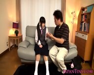 Tiny Japan Schoolgirl Stimulated With Toys - scene 1