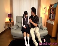 Tiny Japan Schoolgirl Stimulated With Toys - scene 2