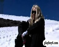 Badass Girls Snowboarding While Naked And Enjoying It - scene 10
