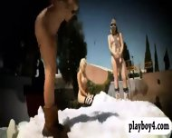 Badass Girls Snowboarding While Naked And Enjoying It - scene 7