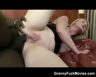 Voluptuous Blonde Granny Black Anal - scene 9