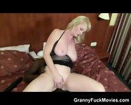 Voluptuous Blonde Granny Black Anal - scene 4